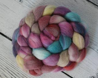 Organic Polwarth Spinning Fiber - Polyjuice Potion - Hand Dyed - Roving - Indie Dyed Fiber - Top - Combed - Felting Fiber
