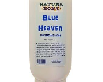Natura Bona Blue Heaven Foot Massage Lotion for Salon Quality Penetrating Pedicure Massage. 6oz