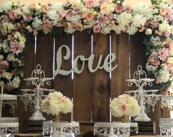 Floral Arch, Wedding Arch Flowers, Silk Flower Arch, Silk arch, Wedding Decor Arch, Wedding arch, Cake Table Flowers