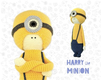 Toy amigurumi crochet pattern minion crochet pattern doll pattern
