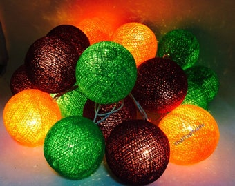 Lighting Ball Set 20 mixed 3 colors Cotton Ball String Lights Fairy light