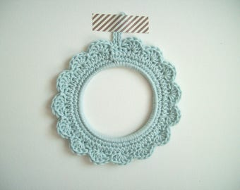 Small frame hook hand-made - light blue color