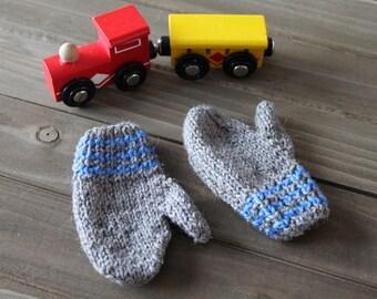 HANDMADE   Infant Mittens, Baby Mittens, Knit Mittens, Wool Mittens