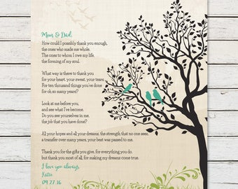GIFTS for MOM and DAD, Gifts for Parents, Gifts for Parents from Kids,  Anniversary Gift for Mom and Dad, Thank You Gift for Parents