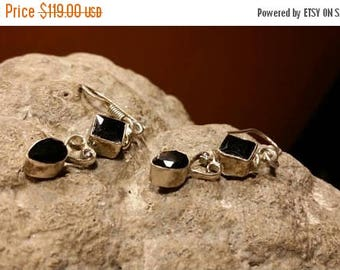 Holiday SALE 85 % OFF Black Onyx  Earrings  Gemstone  .925 Sterling  Silver