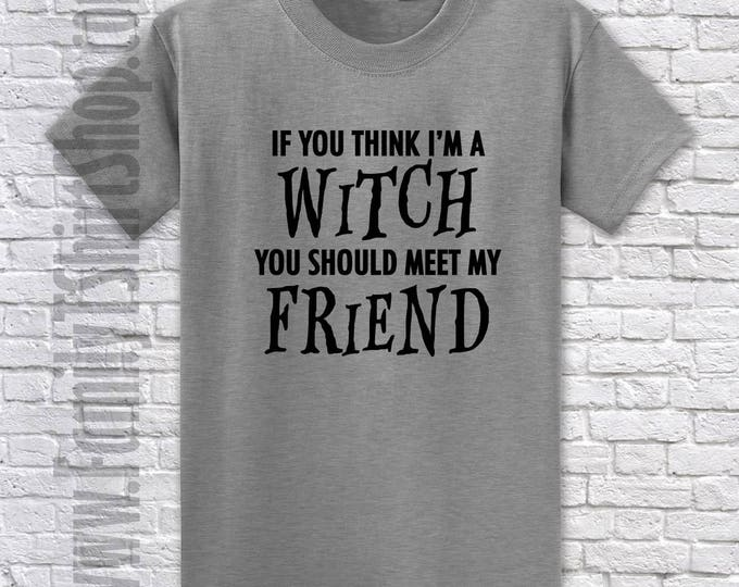 If You Think I'm A Witch You Should Meet My Friend T-shirt