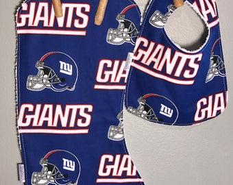 Giants Baby Bib, Burp Cloth Set