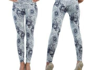Berry Stunning Look Web Pattern Leggings High Waisted S M L XL 2X 3XL 4XL -LGBENET