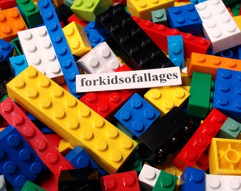 Lego Lot ALL BRICKS and BLOCKS - 100 Bulk Pieces Mixed Sizes and Colors - Basic Building Parts Mix #1