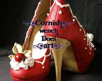 Custom Hand Piped Luxurious Cake Heel's, Wedding, Bridal, Prom, Events