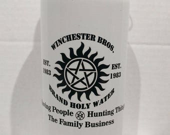 Supernatural Printed Metal Water Bottle 600ml Winchester Bros
