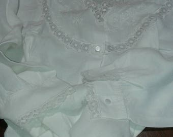 vintage lace linen Nightgown