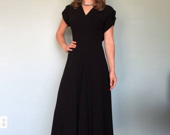 RK originals 1940s  rayon crepe dress size small