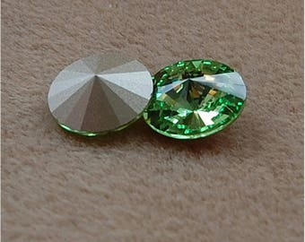 SWAROVSKI Rivoli's, 14mm, Peridot, sold as a unit of 2 pieces.