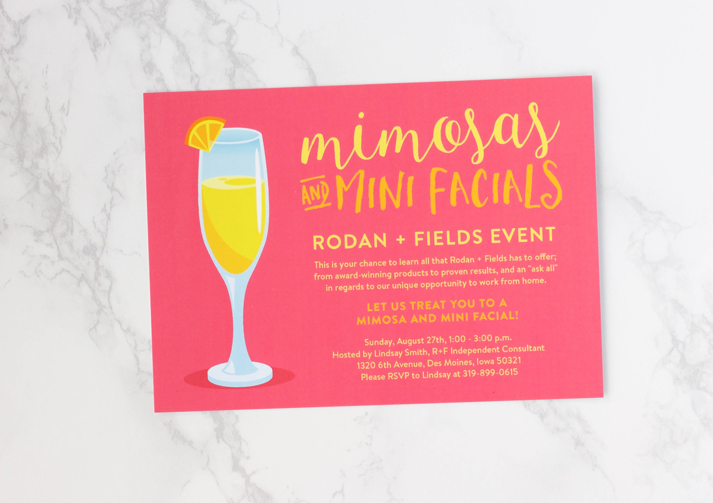 Big Business Launch Invitation Rodan and Fields Skin Regimens