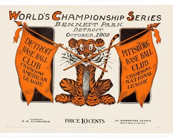 Pittsburgh 1909 World Series Poster - FREE Shipping