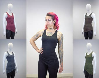 Asymmetrical Hem Layering Tank || Multiple Color Options ||