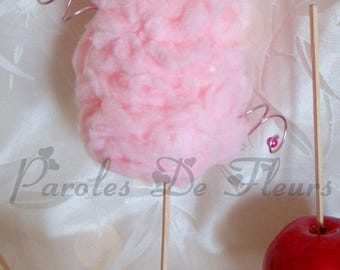 Artificial cotton candy holder