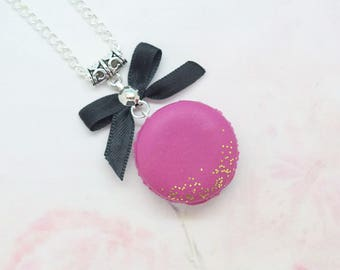 polymer clay macaroon necklace
