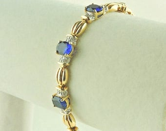 Man made sapphires etsy for Man made sapphire jewelry