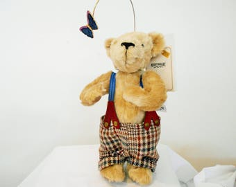 "SALE! 500! Merrythought Bear/ England/Very Rare Limited Edition of only 100/#26!!Musical Plays ""It's A Small World""/Rotating Butterfly!!"