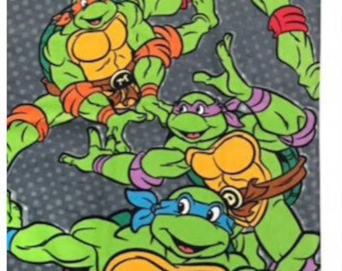 TMNT Turtles Beach Towel Get me Pizza - Personalized Beach Towel