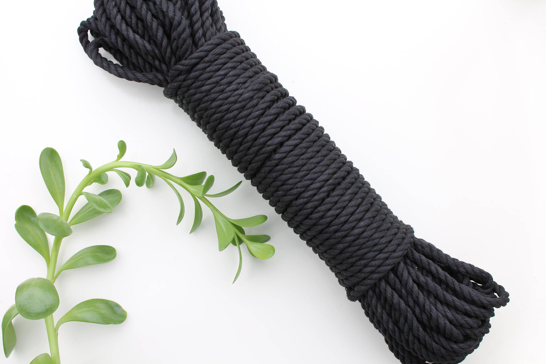 corde coton torsad macram noir 5mm 3 brins 100 cotton. Black Bedroom Furniture Sets. Home Design Ideas