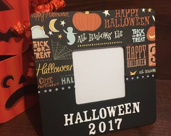 Halloween Frame Hocus pocus Halloween Decorations -Halloween picture frame- halloween decor -halloween 2017- take me trick or treating mommy