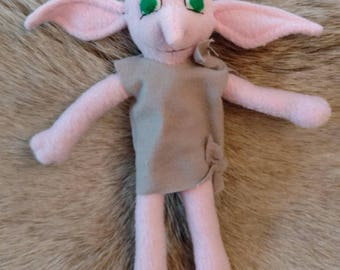 Handcrafted House Elf with Rattle Tummy