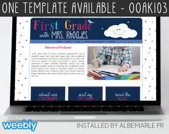 OOAK103 Template for Weebly - Classroom Weebly Template