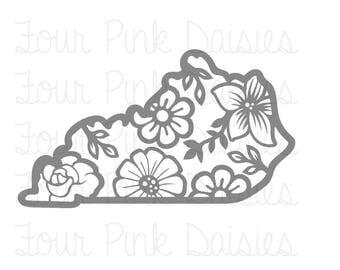 Floral Kentucky Vinyl Decal