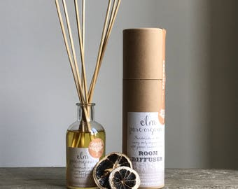 Inika. All Natural Organic Reed Diffuser. Only Organic Essential Oils. Chamomile, Lavender, Rosemary and Lemongrass. Eco friendly. 100ml
