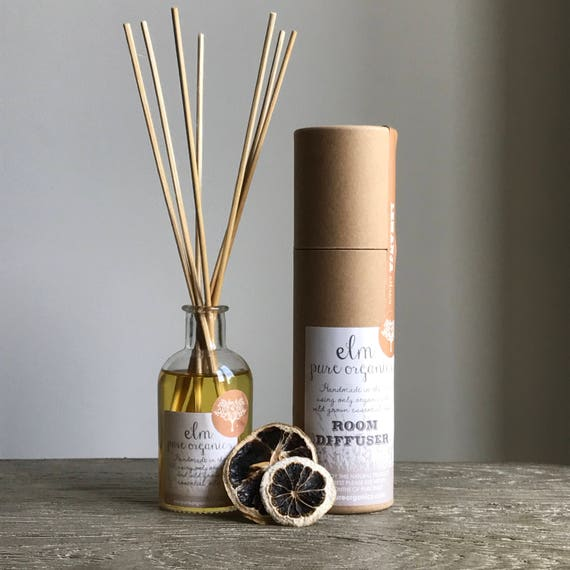 Inika. All Natural Organic Reed Diffuser. Only Organic Essential Oils. Chamomile, Lavender, Rosemary and Lemongrass. Eco friendly.