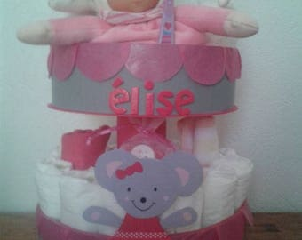 """Miss mouse"" original diaper cake"