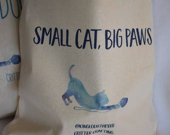 Small Cat, Big Paws Tote