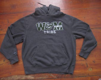 William and Mary College Tribe Hoodie Sweatshirt Adult Medium Large