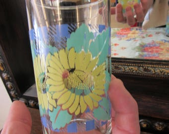 Set of 3 Green Blue and Yellow Juice Glasses