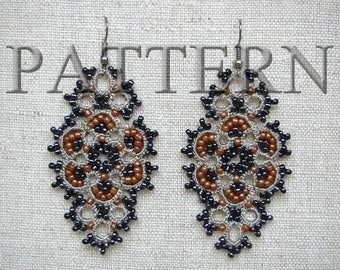 Tatting Pattern PDF – Earrings – Lace - Jewelry