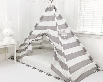 Play Tent Canopy Bed for a Twin  WITH Doors - Pick A Colour