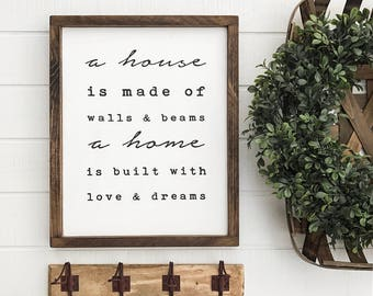 """Home Wood Sign 