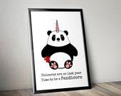 Panda Print, Pun Panda pr...