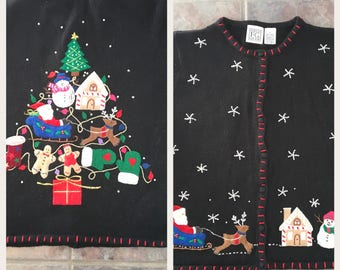 Vintage Ugly Christmas Sweater Small