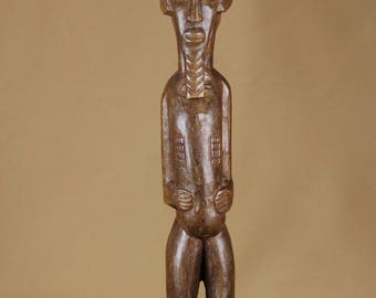 old statue of male ancestor Baoulé - Ivory Coast