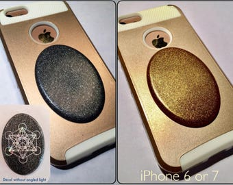 Cellgone Orgonite®~ Orgone for Cell Phone ~ Shungite EMF Radiation Protection ~ Seed / Flower of Life, Sri Yantra, Metatron, Sacred Geometry