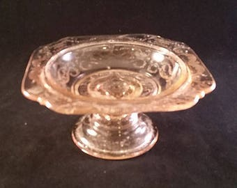 Federal Glass Madrid Pink Butter Dish No Lid