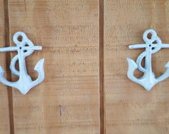 Anchor Wall Hook, Anchor Decor, Set of 2 Anchors, Anchor Coat Hook, Anchor Towel Hook, Hook, Coat Rack, Lake House Decor, Beach Decor, Ocean