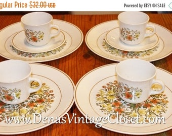 Summer Clearance Sale Vintage Corelle Indian Summer Dinnerware 10 PCS Dinner Plates Cups Saucers
