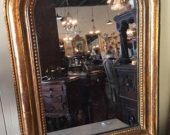 Antique French Louis Philippe Mirror From The 1800's