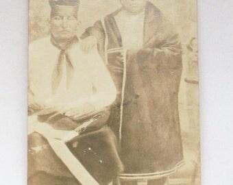 Antique Osage Indian Postcard - Old Indian Territory USA Ephemera Treasure - Circa 1910 - Free Shipping