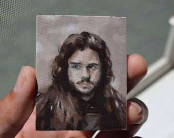 JON SNOW / Game of Thrones Fan Art / Oil Painting Refrigerator Magnets